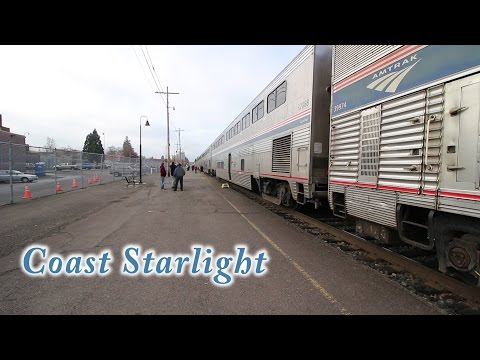 Amtrak Coast Starlight - San Francisco to Seattle 1080P HD