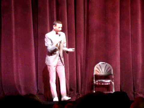 Pee Wee Herman Out of Character AMAZINGLY Sincere Video  Nokia Live LA  Paul Reubens