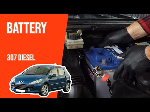 How to replace the battery PEUGEOT 307 1.6 HDi 🔋
