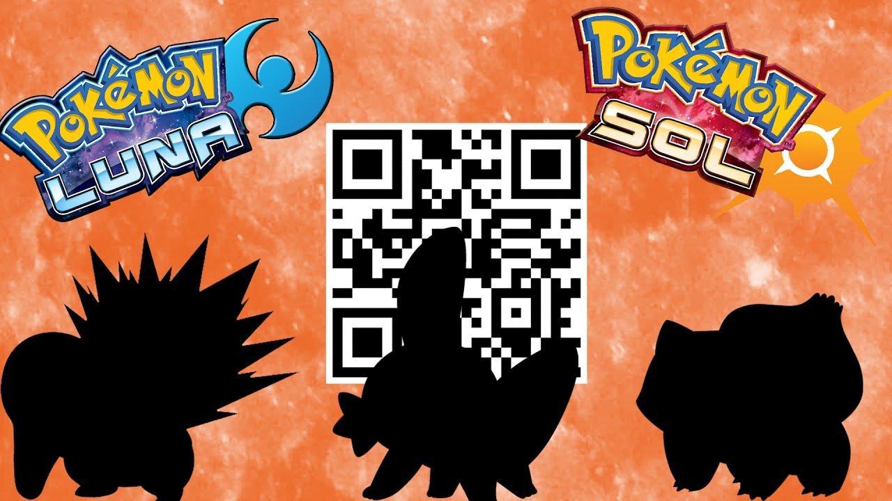 Codigos qr pokemon sol y luna regalo misterioso