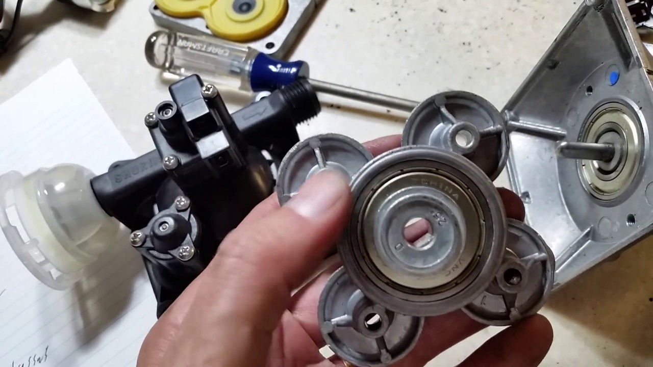 RV Repair: SHURFLO Revolution Water Pump Troubleshooting Disassembly Repair  Tuneup & Adjustment