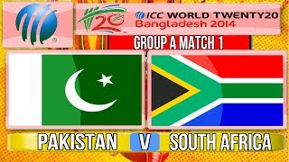 (Cricket Game) ICC T20 World Cup 2014 - Pakistan v South Africa Group A Match 1