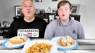 Hot Dogs and French Fries Mukbang | The Barkers
