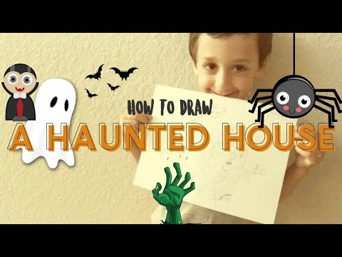 How To Draw A Haunted House!
