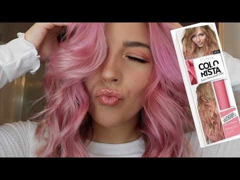 L'Oreal Colorista Review And Demo | I Dyed My Hair Pink