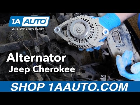 How to Replace Alternator 91-98 Jeep Cherokee  Jeep Cherokee Alternator Wiring on