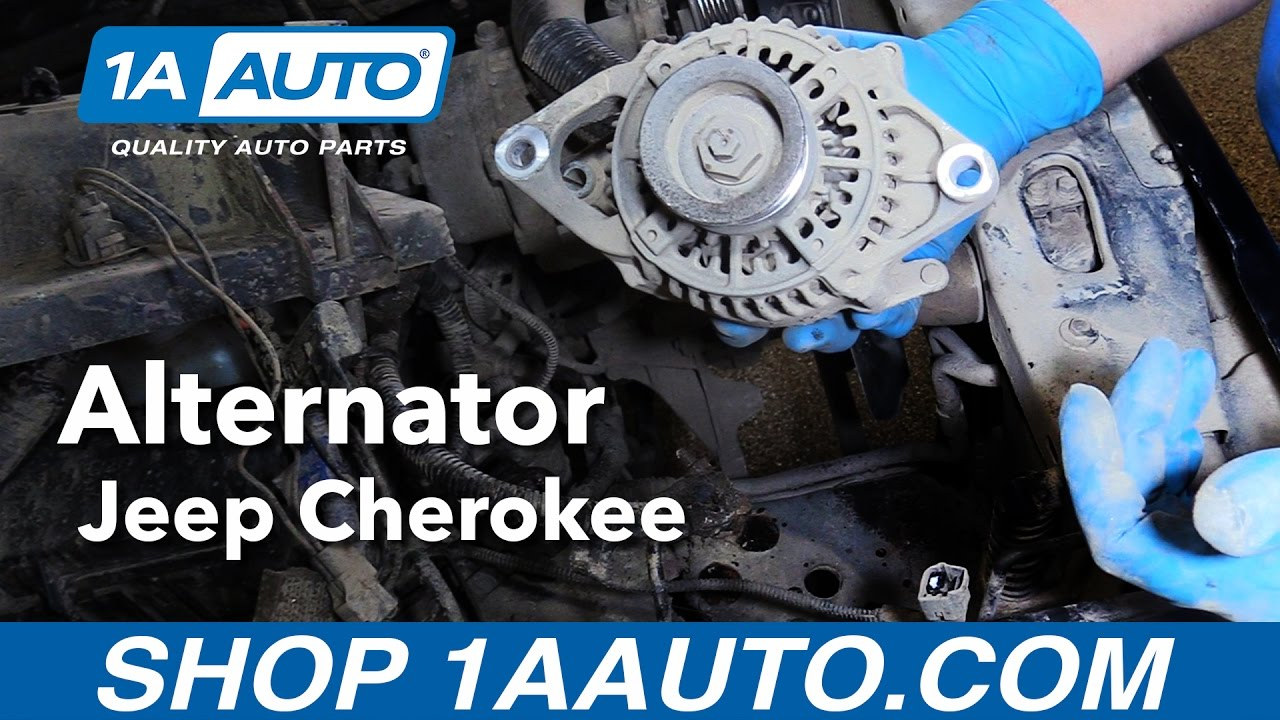 hight resolution of how to replace install alternator 1991 98 jeep cherokee buy quality auto parts from 1aauto com youtube