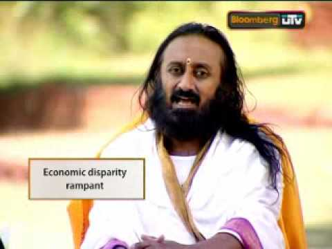Bloomberg UTV Sri Sri Ravi Shankar - part 1 highlights