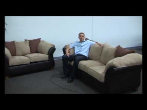 Simmons Upholstery Manhattan Sofa Set - YouTube