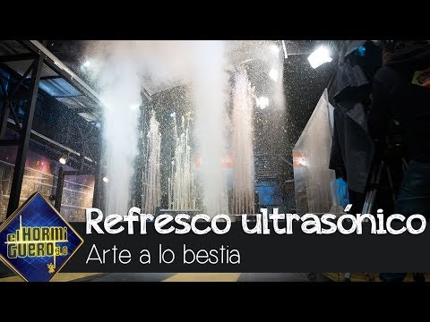 Una fuente de refresco propulsado por ultrasonido - El Hormiguero 3.0