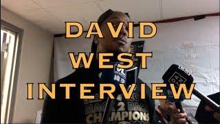 DAVID WEST locker room interview, postgame after championship G4 2018 NBA Finals