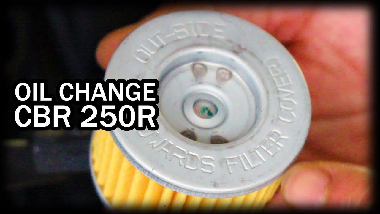 Oil Change DIY Honda CBR 250R Motorcycle - YouTube