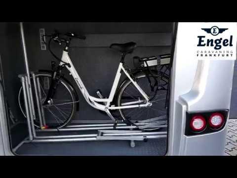 fahrradhalter f r die reisemobilgarage ganz ohne schrauben. Black Bedroom Furniture Sets. Home Design Ideas