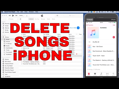 delete music from iphone how to delete from itunes iphone ipod 2245