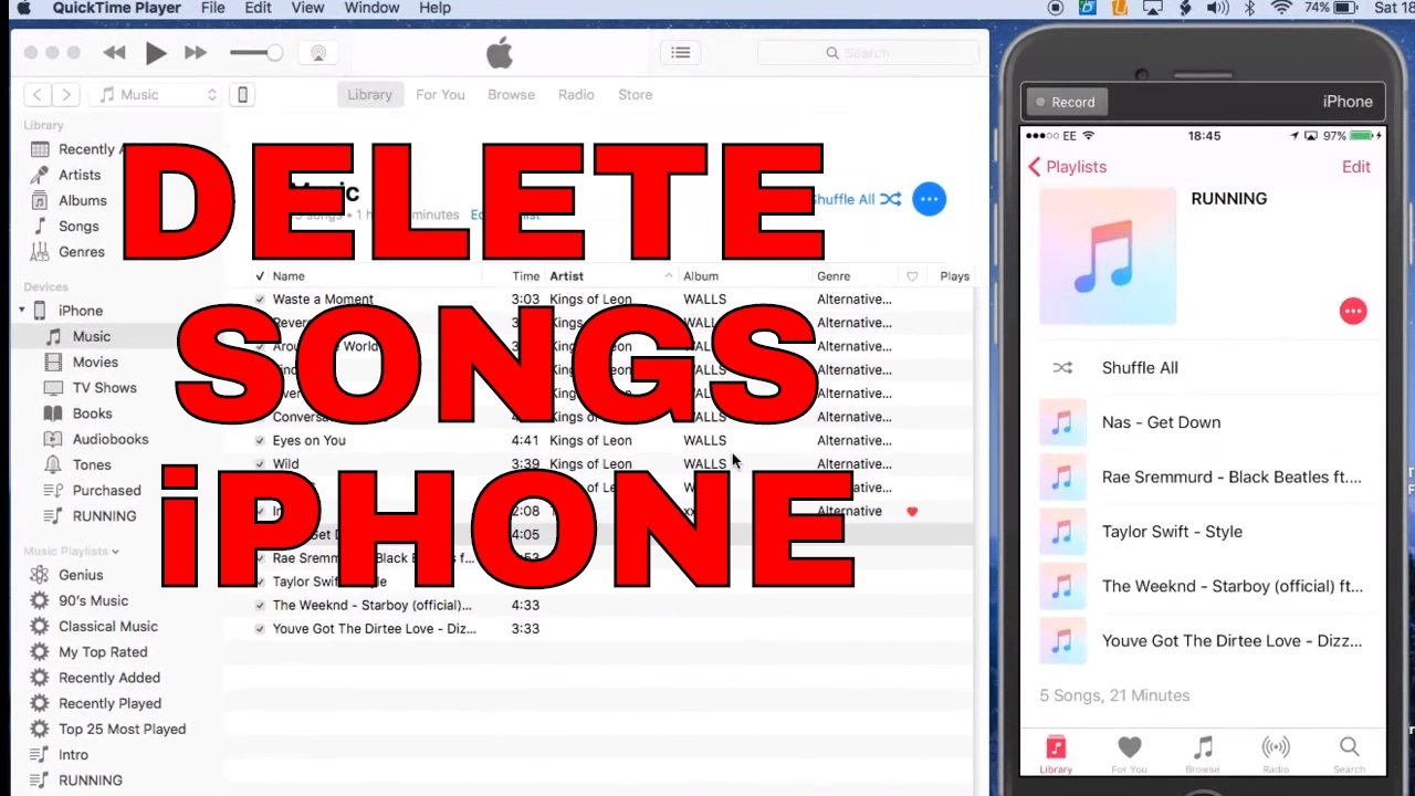Delete itunes music from ipad