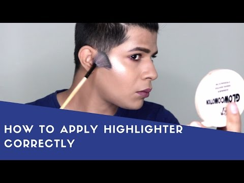 How to apply Highlighter Correctly for Beginners | Cheap The Balm Dupe | W7 Glocomotion Highlighter