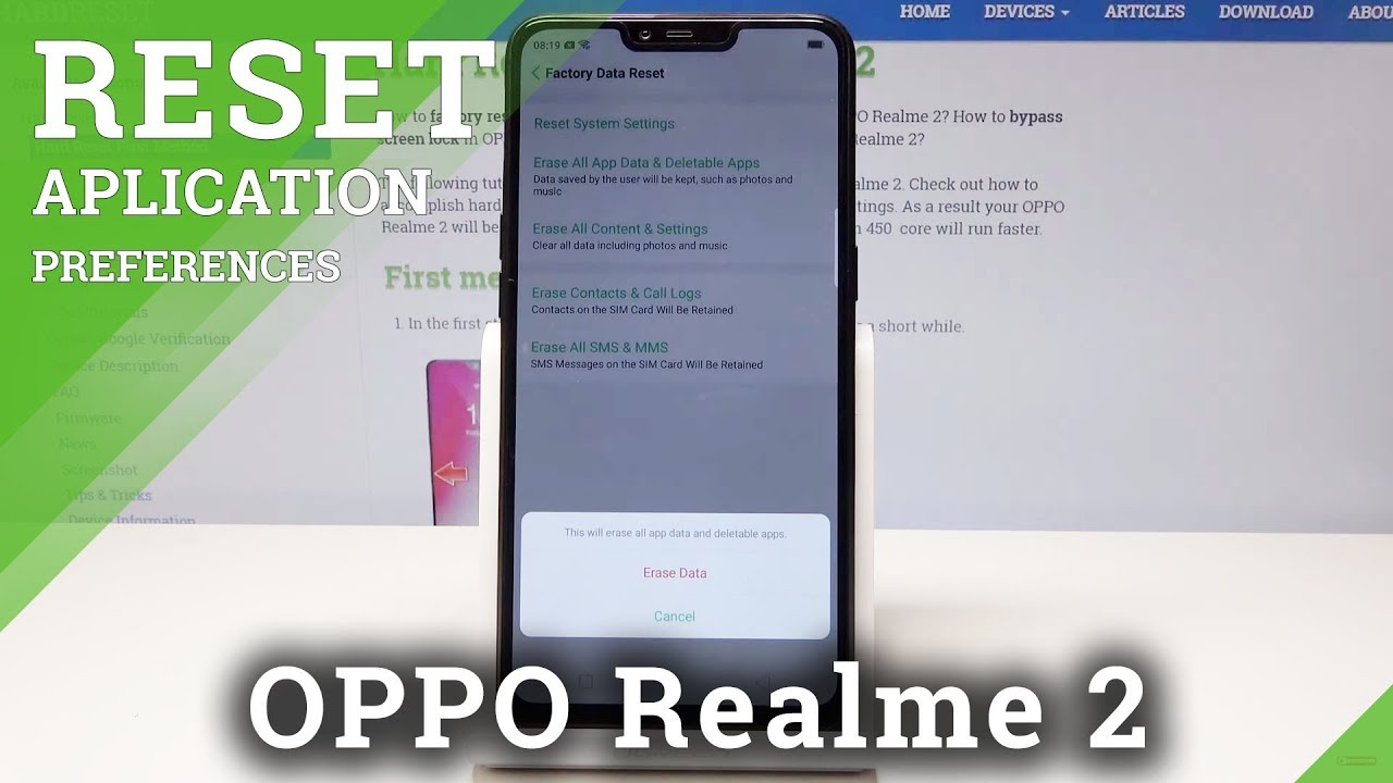 How to Reset Apps & Apps Data in OPPO Realme 2 - Erase App Data