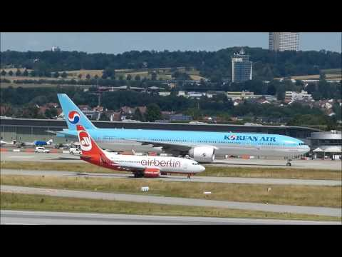 Boeing 777-3B5 (ER) Korean Air taxiing and take-off after an emergency landing