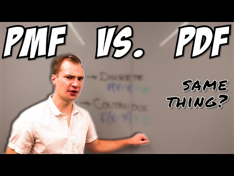 Understanding PMF vs PDF