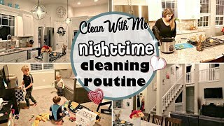 AFTER DARK CLEAN WITH ME :: SAHM NIGHTTIME CLEANING ROUTINE 2018 :: CLEANING MOTIVATION