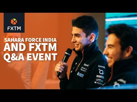 Sahara Force India F1™ & FXTM Showcase Sponsorship at Q&A Event in Shanghai, 2017