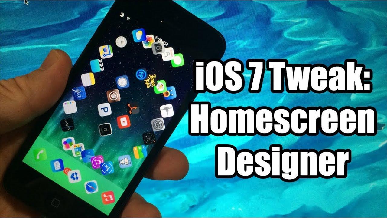 iOS 7 Jailbreak Tweaks: HomescreenDesigner - YouTube