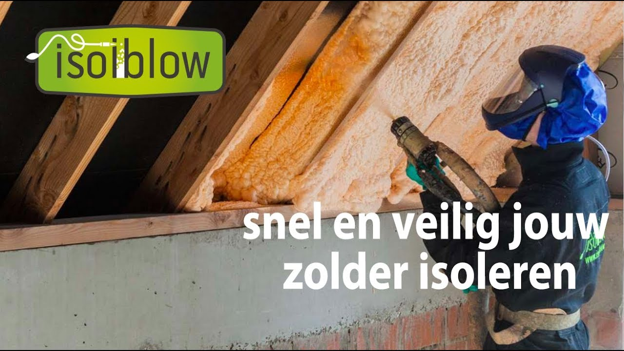 Zolder- en dakioslatie  - Isolblow isoleert jouw woning