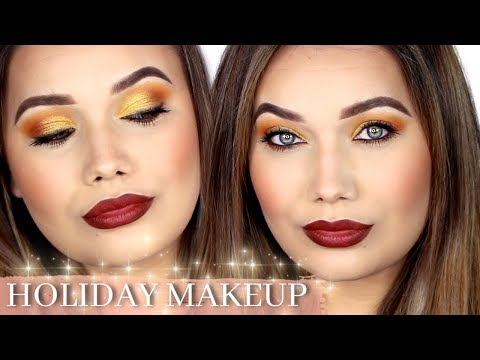 Warm Holiday Makeup Tutorial | shaemas day four thumbnail