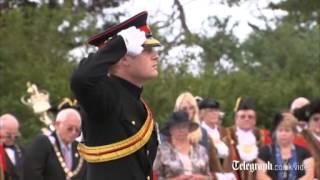 First World War Centenary: Prince Harry unveils WW1 memorial arch