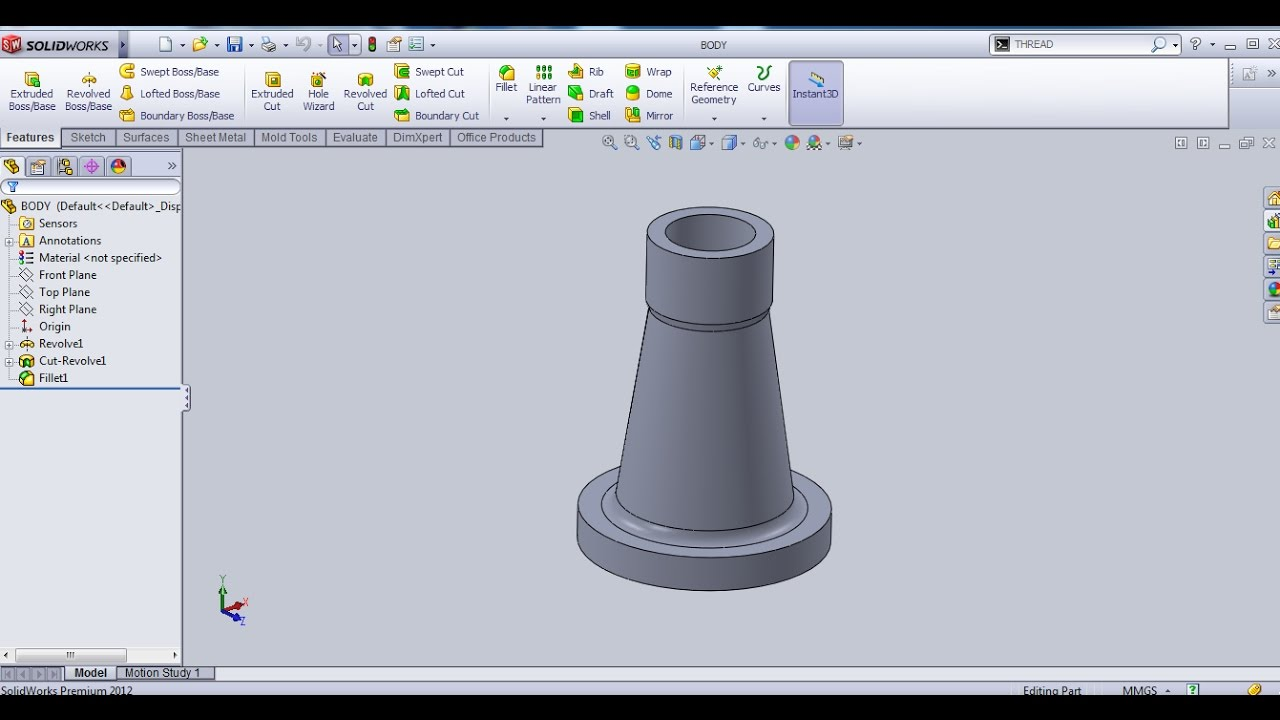 SCREW JACK ASSEMBLY- PART 1 SOLIDWORKS