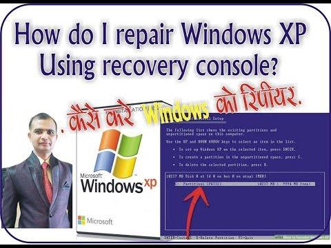 How To  Repair Or Restore  Windows XP  In Hindi 1