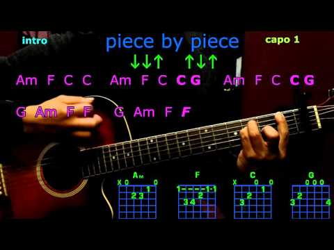 piece by piece kelly clarkson guitar chords