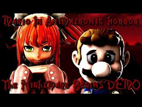 Monika Plays: Mario In Animatronic Horror: The Nightmare Begins DEMO