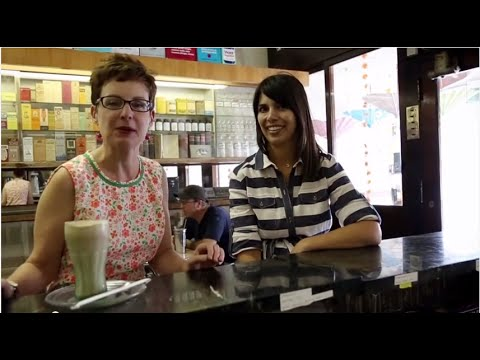 Mod Betty Visits Adams & Bright Soda Fountain, Hamburg PA! Retro Roadmap Episode 3