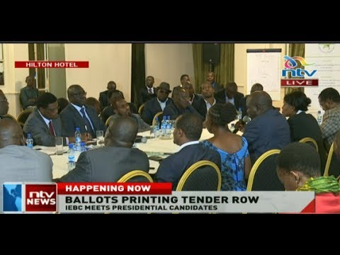 IEBC meets Presidential candidates over ballot printing tender row