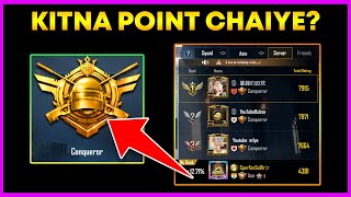 How Much Point For Conqueror in Pubg Mobile ? || Kitna Trophy Chaiye Conqueror Ka Liye ? (Hindi)
