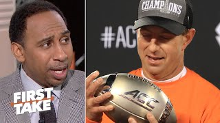 Dabo Swinney is entitled to feel frustrated with Clemson's CFP rank - Stephen A. | First Take