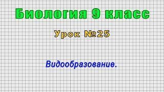 Биология 9 класс (Урок№25 - Видообразование.)