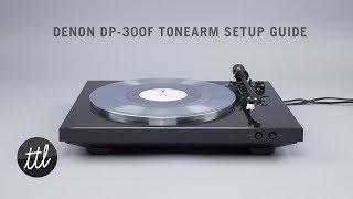 Денон ДП-300Ф автоматичний поворотний тонарм & картридж керівництво по установці