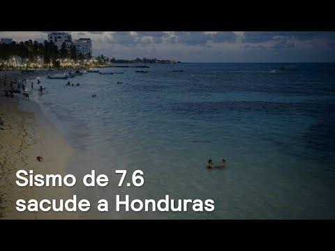 Sismo de 7.6 sacude a Honduras y Mar Caribe - En Punto con Denise Maerker