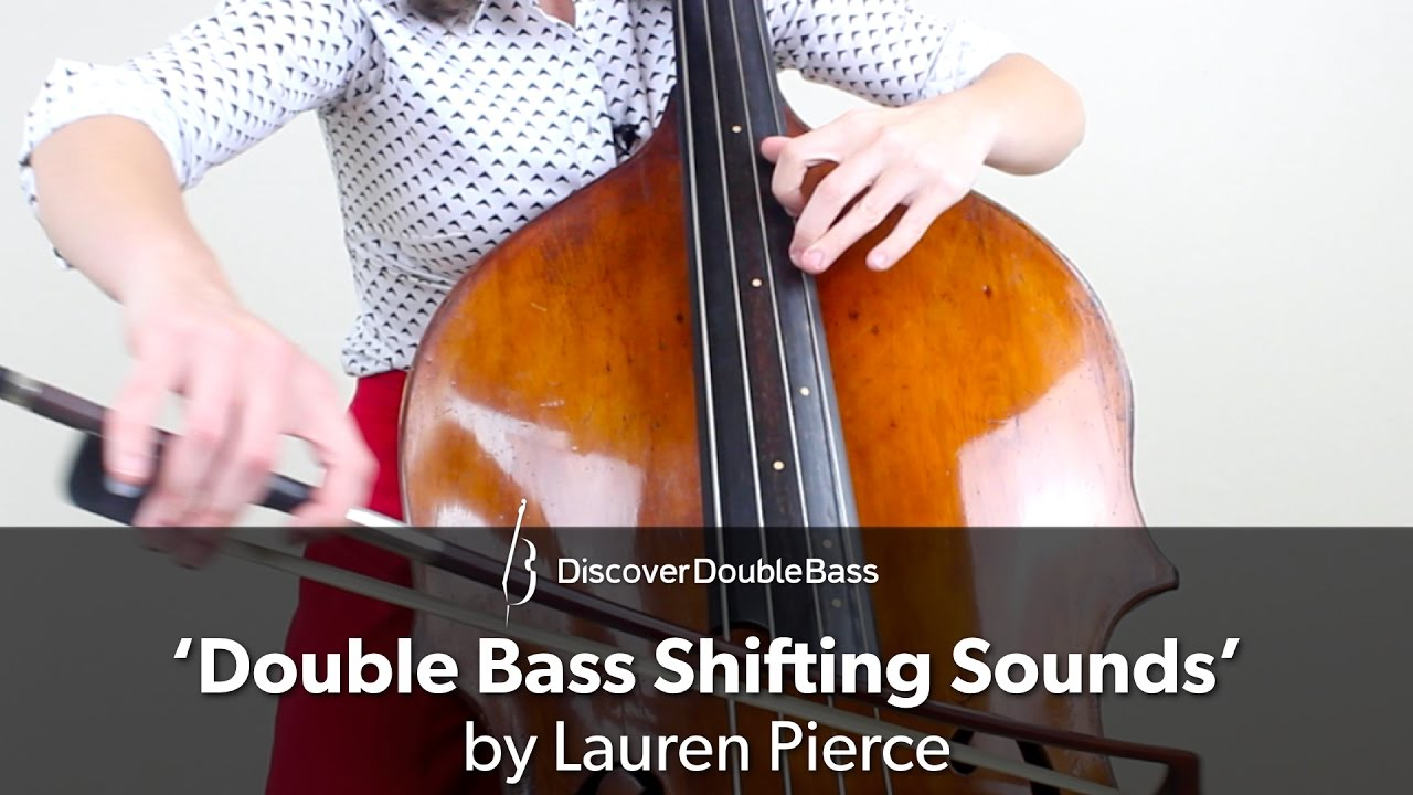 Double bass thumb position, nude breat good