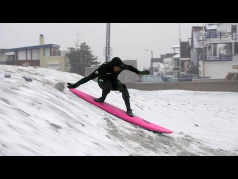 SURFING FIRST SNOW FALL OF THE SEASON