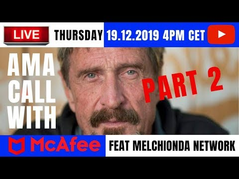 John McAfee - Live Interview: About Bitcoin Prediction, Cryptocurrency, Manipulations