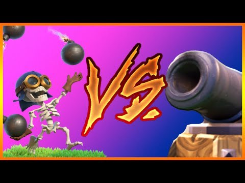 BOMBER vs CANNON CART   BUILDER HALL 5, BH5   Clash of Clans