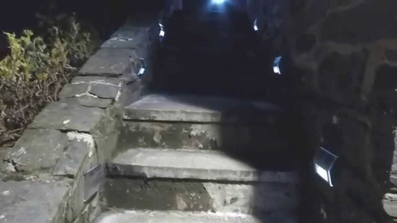 Solar Step Lights In Action At Night And Review Youtube