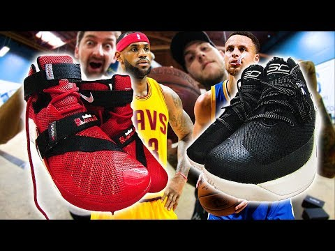 STEPHEN CURRY VS LEBRON JAMES   WHO'S SHOE SKATES BETTER