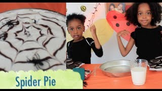 ✿‿✿ Cute Kids Show You How To Make Oreo Spider Pie (halloween Countdown) 🍴