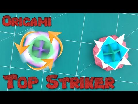 How to Make a Paper Spinner Battle Blade Tutorial | Origami Top Striker Paper l DIY Paper Spinning
