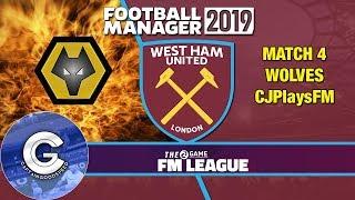 FM19 2Game FM League | Match #4: WEST HAM vs WOLVES | FM19 Creator League