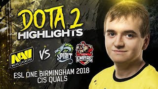 NAVI Dota2 Highlights vs Team Spirit, Empire @ ESL One Birmingham CIS Qualifier